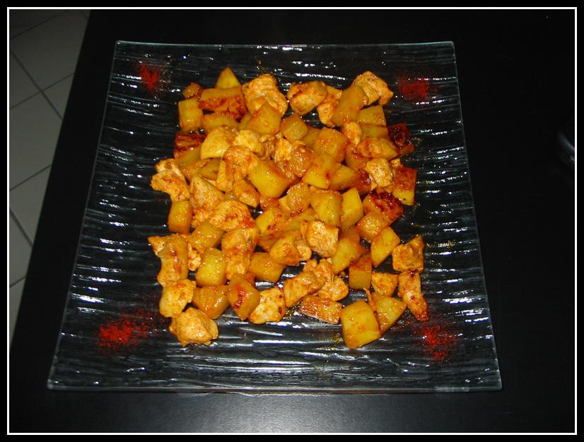 ananas poulet paprika