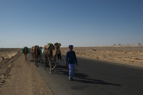 La route traversant le Black Desert, Egypte (2009)