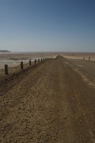 La route dans le Black Desert, Egypte (2009)