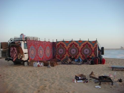 Campement dans le White Desert, Egypte (2009)