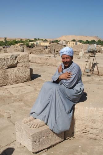 Un gardien sur l'Ile Elephantine @ Assouan, Egypte