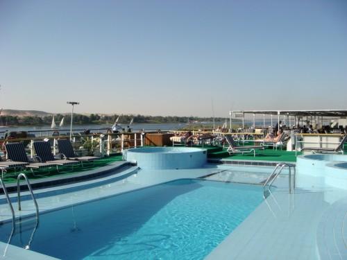 Piscine du bateau de croisière @ Assouan - Egypte
