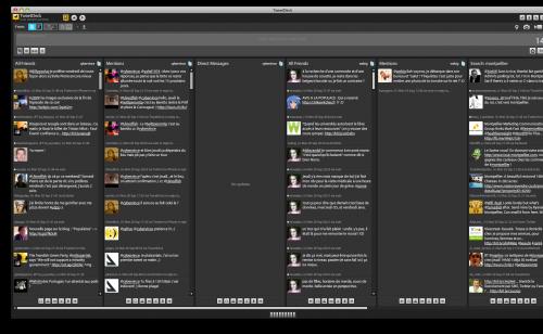 TweetDeck - Interface