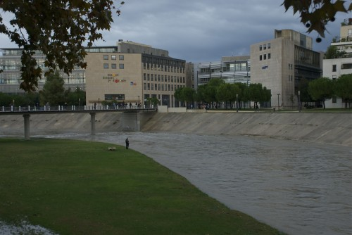 Le Lez en crue @ Montpellier, France (2011)