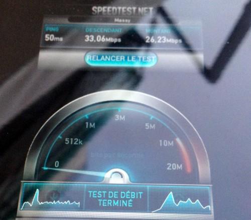 Test de débit à Montpellier
