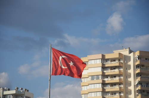Drapeau turc, Antalya (Turquie - 16 avril 2013)